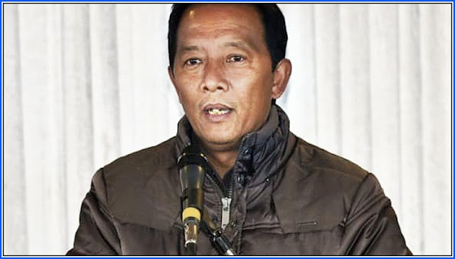Binay Tamang at conference of the Confederation of North Bengal & Sikkim Journalists Darjeeling