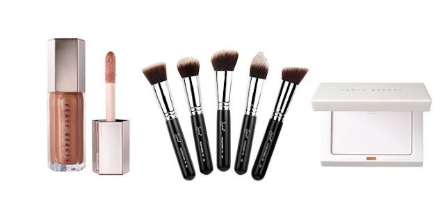 Fenty Beauty Gloss Bomb Lipgloss, Sigma Brush Set, Fenty Beauty Matte Setting Powder, Beauty Blogger, College Blogger, Lifestyle Blogger
