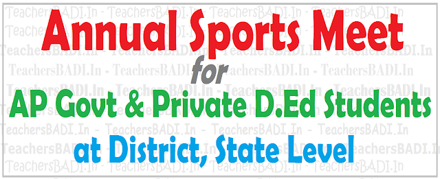 AP D.Ed Students,Sports Meet,Schedule