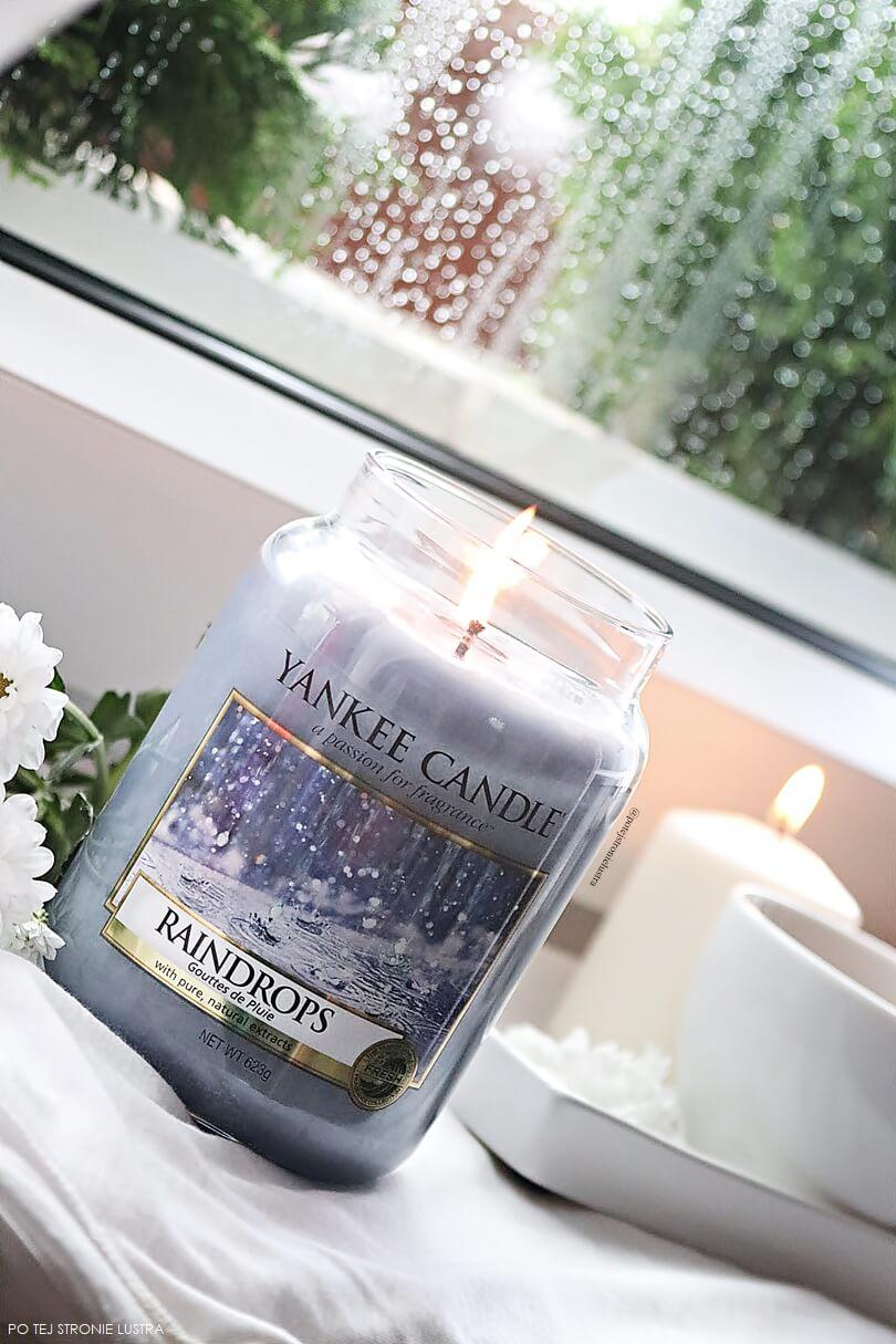 świeca o zapachu deszczu yankee candle raindrops