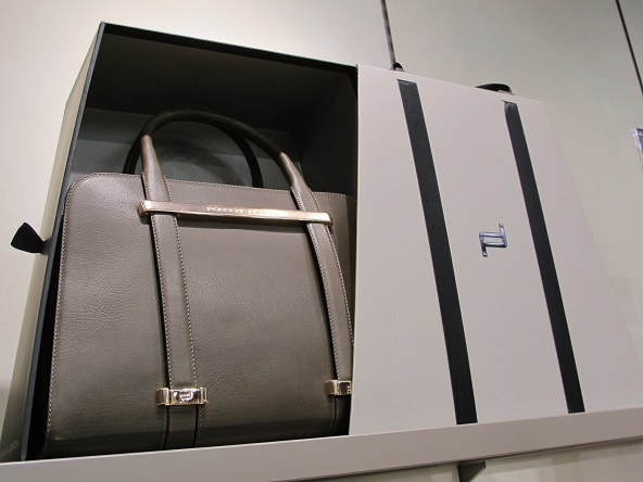13717a88a64 Porsche Design is revolutionising women s handbags with a puristic new  design and a novel carrying concept. The TwinBag combines simple elegance  with ...