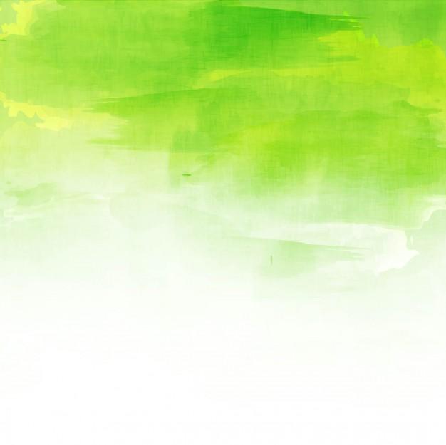 Green watercolor background design Free Vector