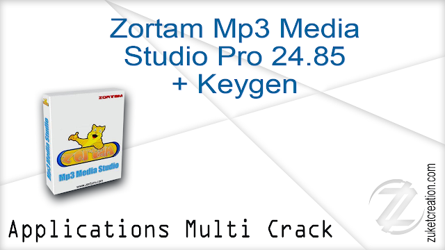 Zortam Mp3 Media Studio Pro 24.85 + Keygen   |  23,2 MB