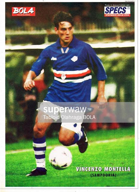 POSTER VINCENZO MONTELLA (SAMPDORIA 1997)