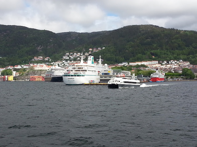 Cruise ship MS Expedition in Bergen, Norway; Ships in Bergen