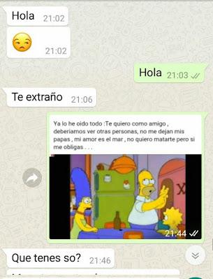 Le cortó a su novio con memes de Los Simpson