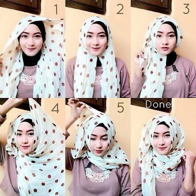 Tutorial Hijab Monokrom atau Monochrome Terbaru Masa Kini
