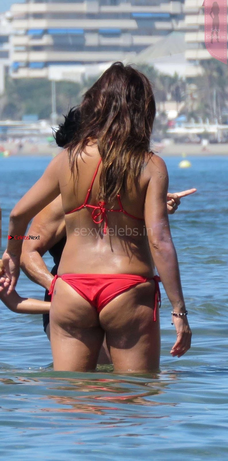 Monica Cruz sexy red thongs huge dusky ass wow must see beauty
