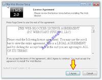 the web blocker setup