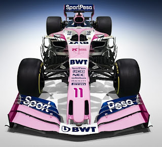 Racing Point team unveils 2019 Formula 1 new car