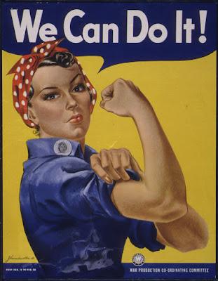 Imagen de We can do it! con una mujer alzando su puño para reivindicar que las mujeres somos capaces de todo.