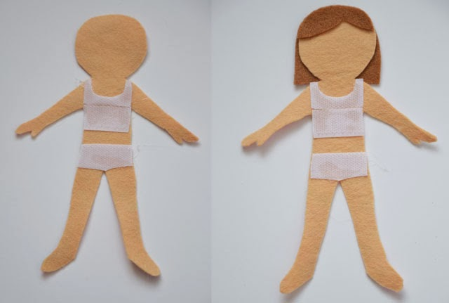 Tadpegs make a dress up dolly the dolly for Felt dress up doll template