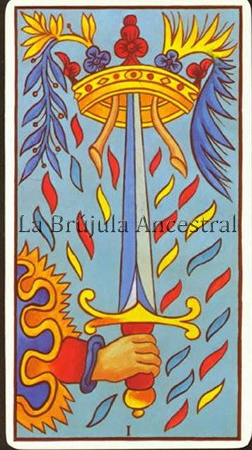 Arcanos Menores, As de Espadas Tarot de Marsella