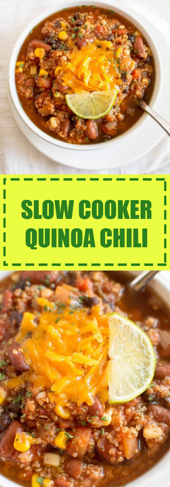 Slow Cooker Quinoa Chili Recipe