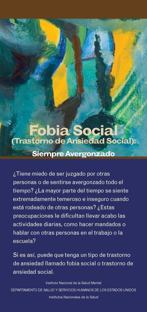Fobia social: Trastorno de ansiedad social