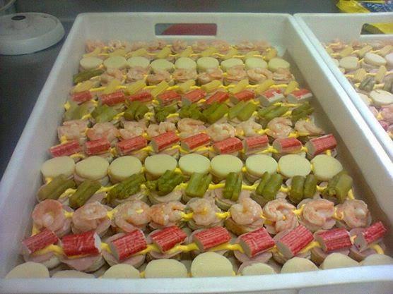 Pasteler a de fabi n finos canapes variados sabores - Como hacer un canape ...