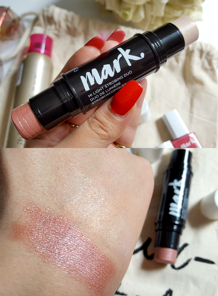 AVON mark. Hi Light Strobing Duo - UVP 12.00 Euro - Highlighter, Rouge - Summer Beauty Festival Essentials