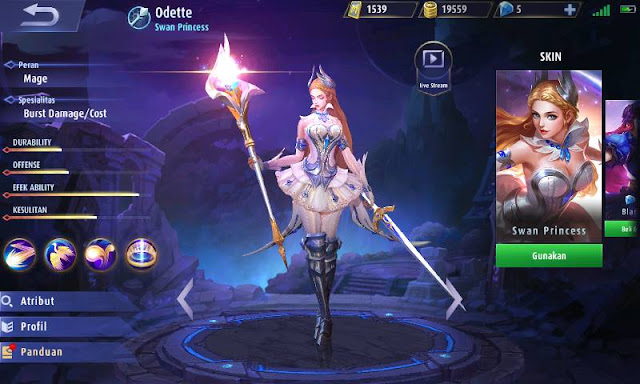Guide Odette Mobile Legends  Penyihir terkuat