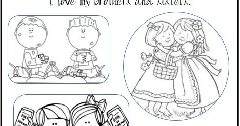 Lds Activity Ideas I Love My Brothers And Sisters Coloring Page