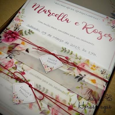 convite de casamento artesanal personalizado floral delicado aquarelado rosê marsala boho chique rústico moderno sofisticado diferente