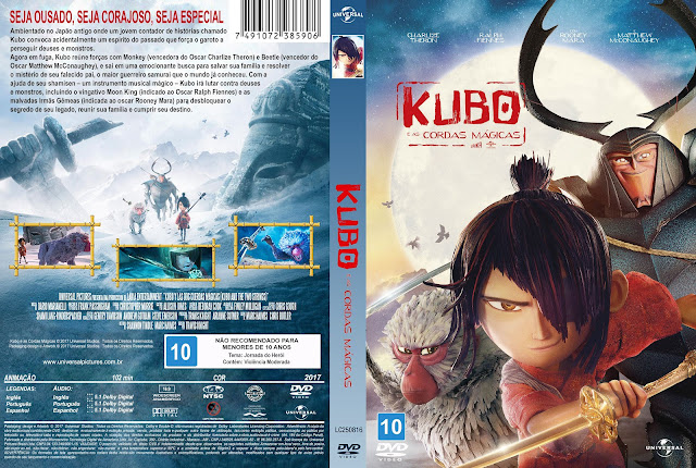 Capa DVD Kubo E As Cordas Mágicas