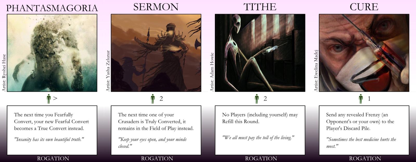 Phatasmagoria, Sermon, Tithe, Cure