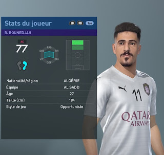 PES 2019 Faces Baghdad Bounedjah by TiiToo Facemaker