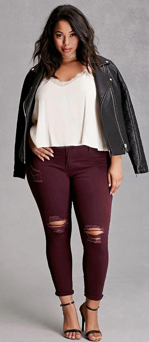 Look con jeans para mujeres gorditas