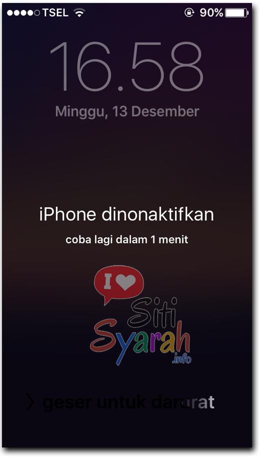 memperbaiki iPhone non aktif