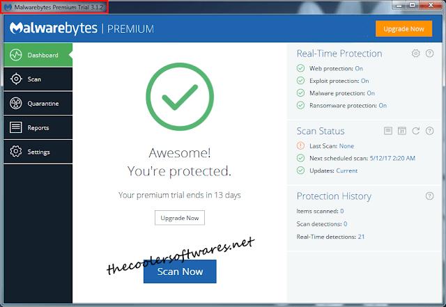Malwarebytes Anti-Malware Premium 3.1.2 Serial Key