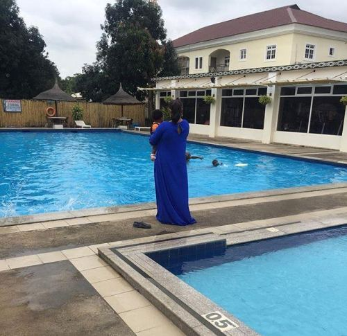 Actress Tonto Dikeh-Churchill shares photo with her son, Baby X