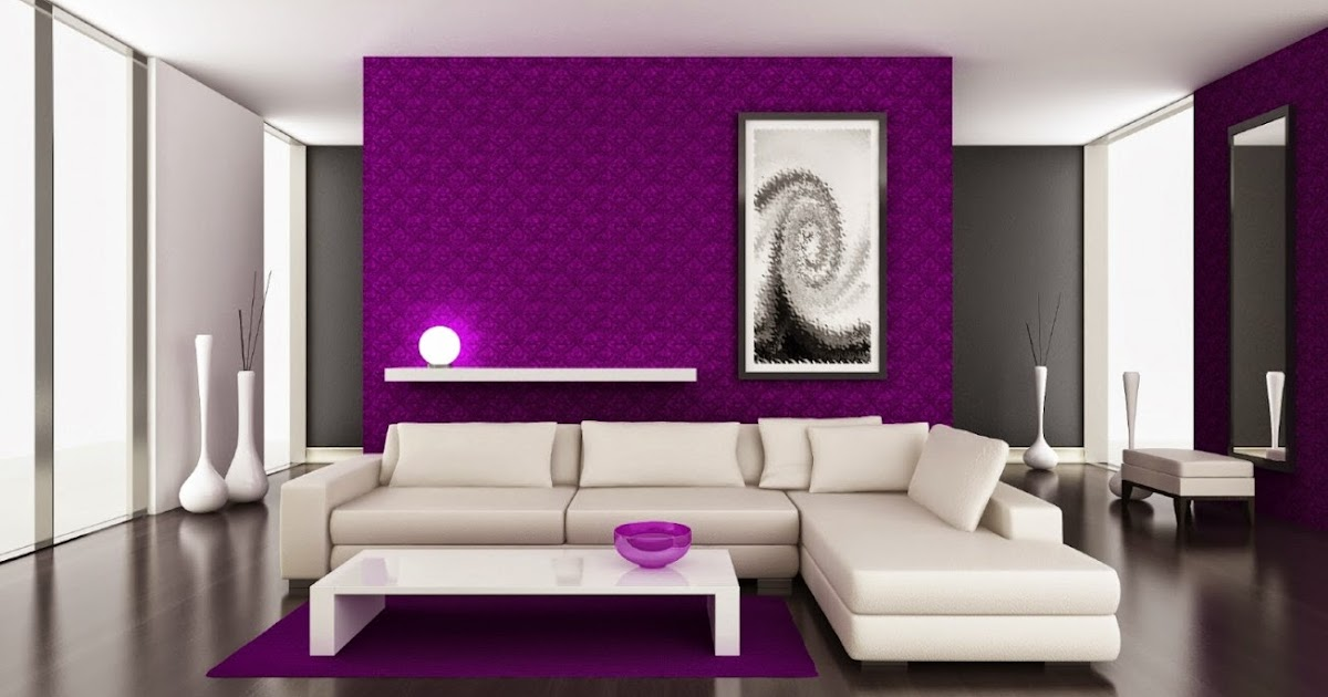 Decoraci n de salas en color violeta decoraci n del for Decoracion de hogar interiores