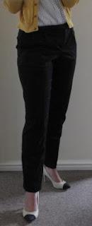 Slim cut trousers