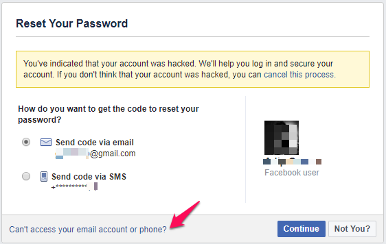 How do i send an email to a facebook account recovery
