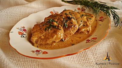 Polędwiczki wieprzowe w sosie musztardowym
