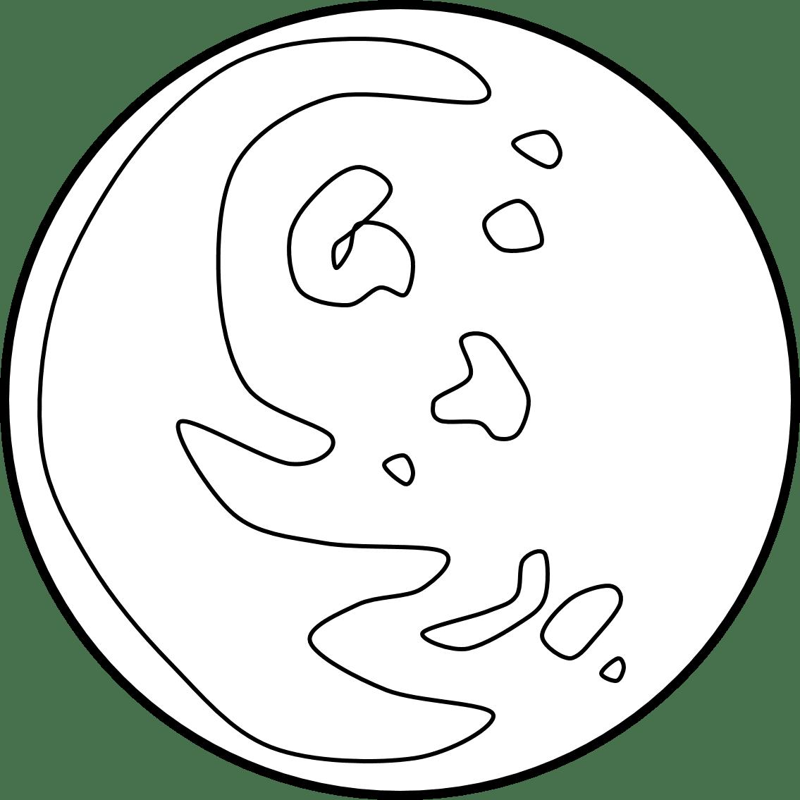 Planets Clipart Black Amp White