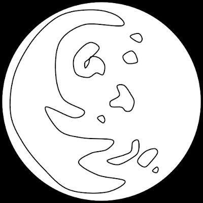 Planet Mercury Clipart Black & White