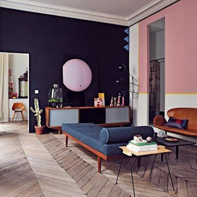rustic Chevron floor in home decor