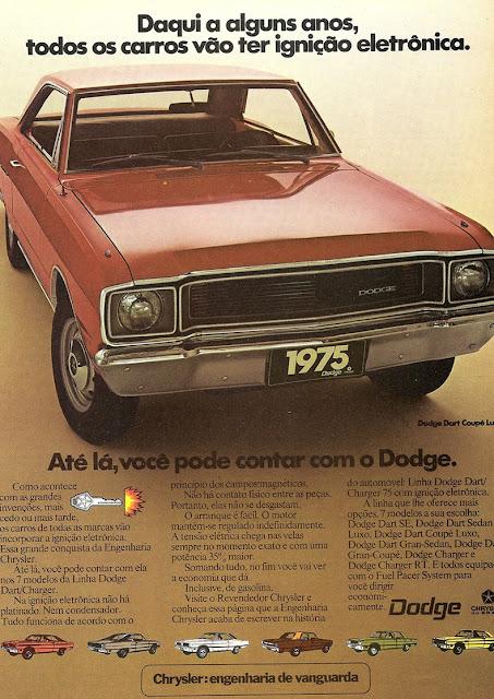 Campanha da Chrysler para lançamento da linha luxo do Dodge Dart Coupé em 1975