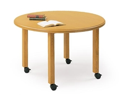 Round Conference Table On Wheels