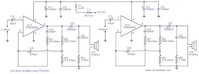 TDA2003 Car audio amplifier circuit and explanation ...