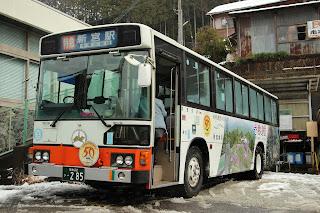 奈良交通 八木新宮線用ブルーリボン 奈良22き285 U-HU3KLAA