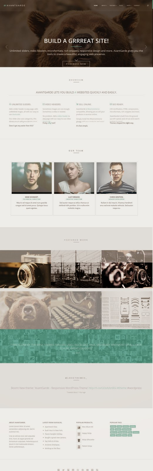AvantGrade Responsice WordPress Theme