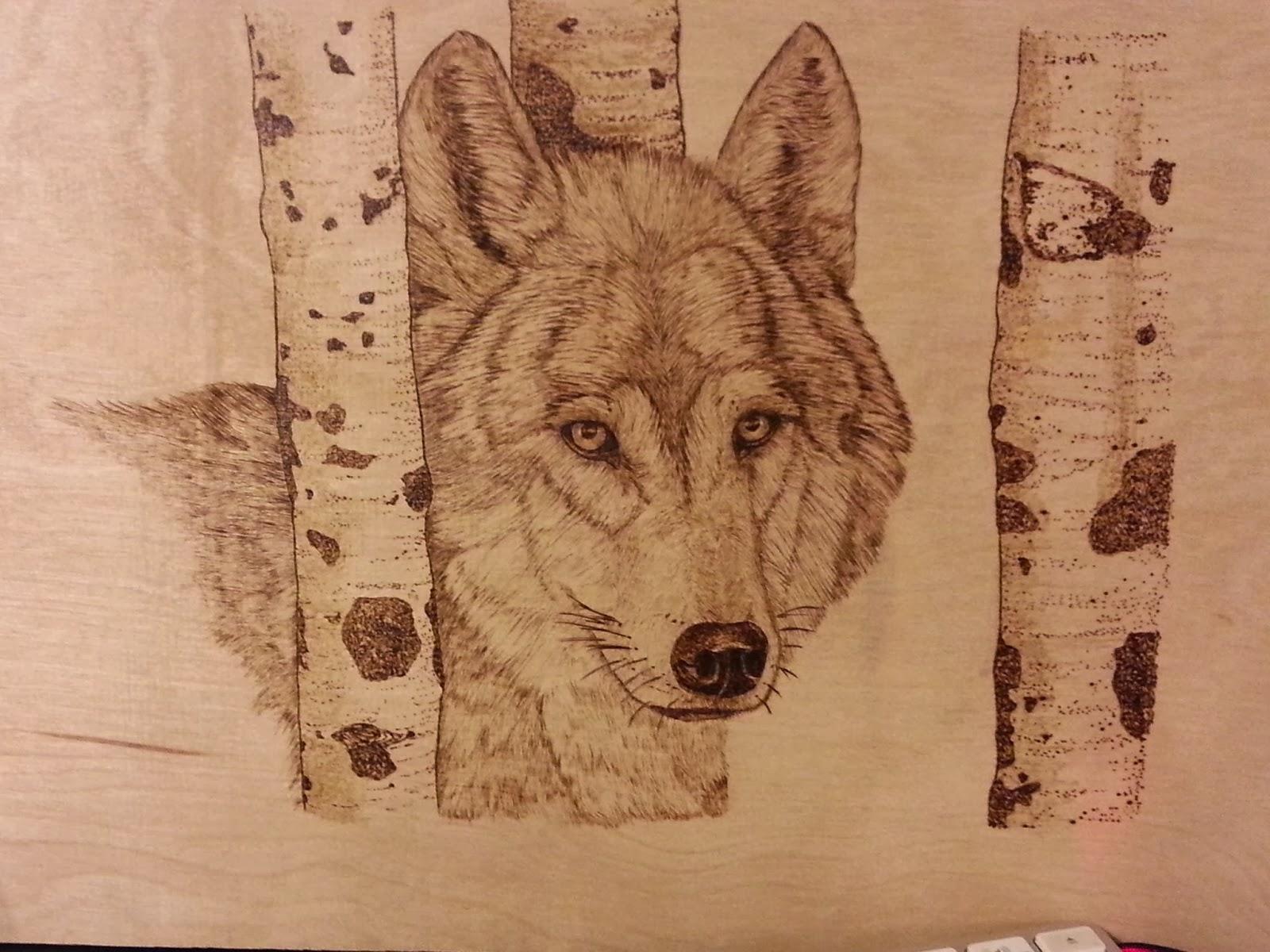 Knitting Is A Romantic Drama Wolf Pyrography