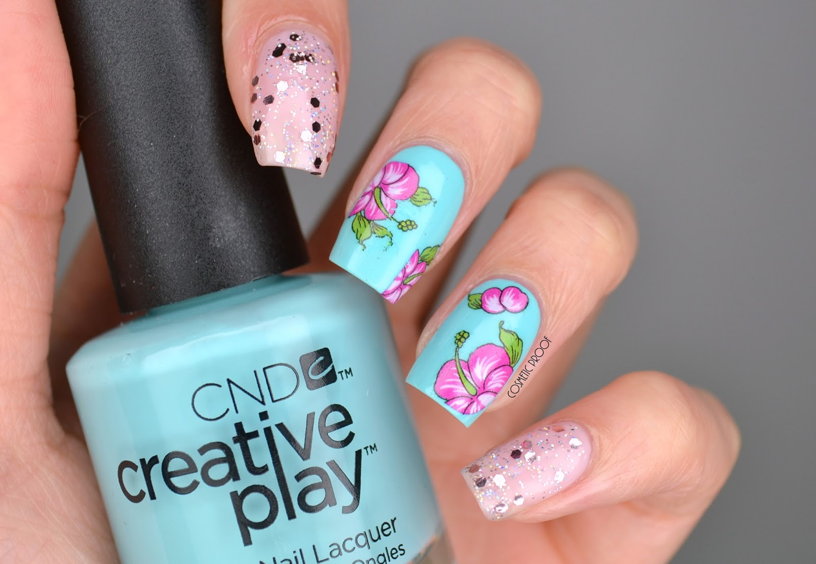 NAILS | Flowers with a Sprinkle of Glitter #ManiMonday | Cosmetic ...