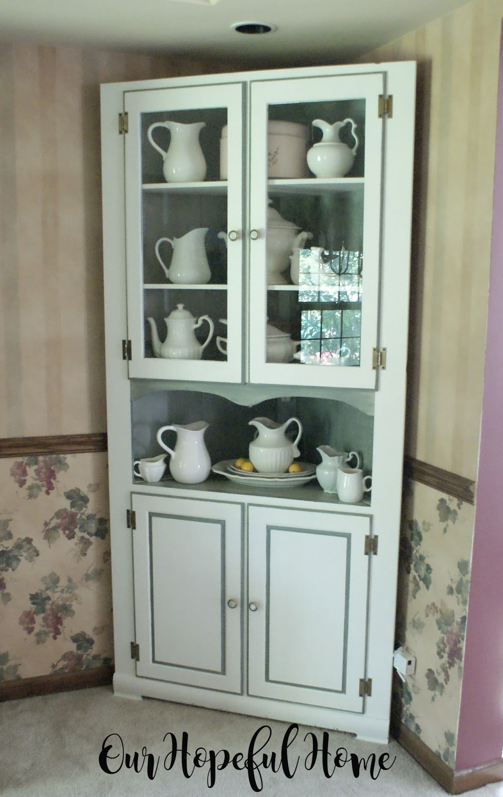 Our Hopeful Home Farmhouse China Hutch In Time For Dining Room