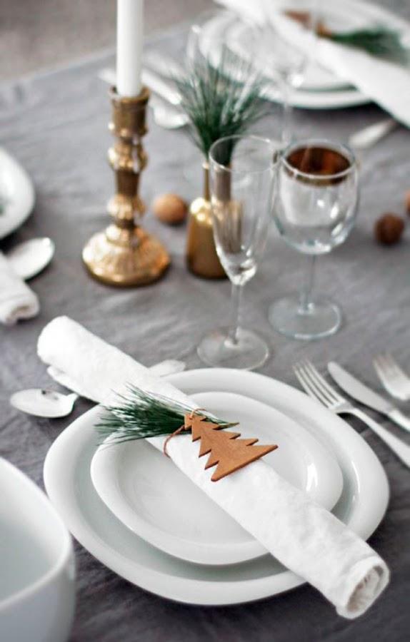 Pon servilleteros diy en tu mesa de Navidad