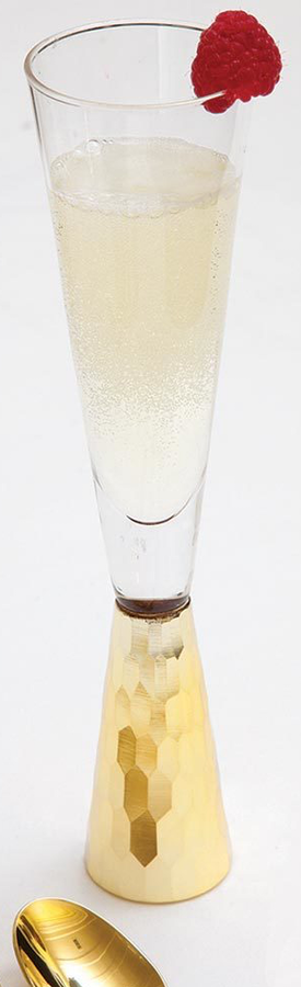 8 Oak Lane Champagne Glass Gold