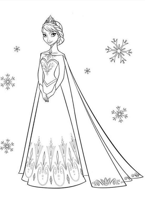 Gambar Mewarnai Frozen Elsa Terbaru Gambar Mewarnai