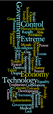 dystopia word cloud